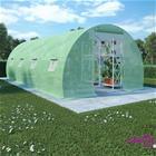 vidaXL Kasvihuone teräksisillä perustuksilla 18m² 600x300x200 cm