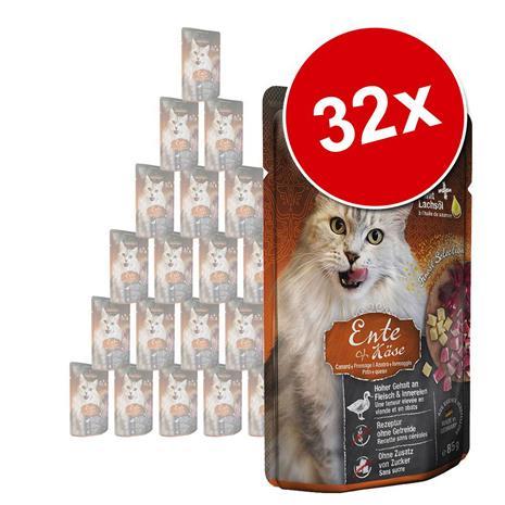 Leonardo Finest Selection Pouch -säästöpakkaus 32 x 85 g - ankka & juusto