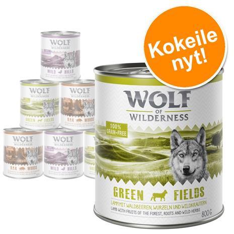 Wolf of Wilderness Adult -lajitelma - lammas, ankka, villisika 6 x 400g