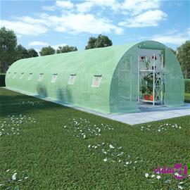 vidaXL Kasvihuone teräksisillä perustuksilla 36m² 1200x300x200 cm