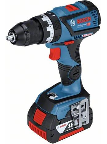 Bosch GSB 18V-60 C Professional (06019G2107) 18V 2x4,0Ah L-BOXX, akkuiskupora/-ruuvinväännin + pikalaturi GAL 1880 CV