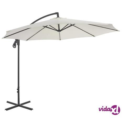 vidaXL Riippuva aurinkovarjo teräspylväällä 30 cm hiekka