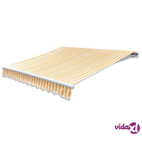 vidaXL Markiisikangas oranssi ja valkoinen 436x296 cm