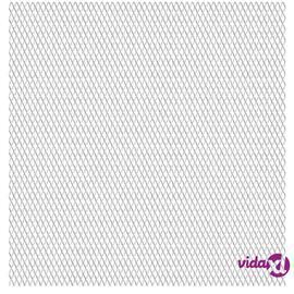 vidaXL Verkkoaitapaneeli ruostumaton teräs 100x85 cm 45x20x4 mm