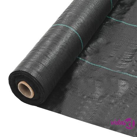 vidaXL Rikkaruohojen ja juurien kontrollointimatto PP 2x50 m musta
