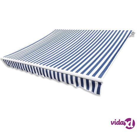 vidaXL Markiisikangas sininen ja valkoinen 481x296 cm