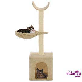 vidaXL Kissan raapimispuu sisal-pylväillä 105 cm beige