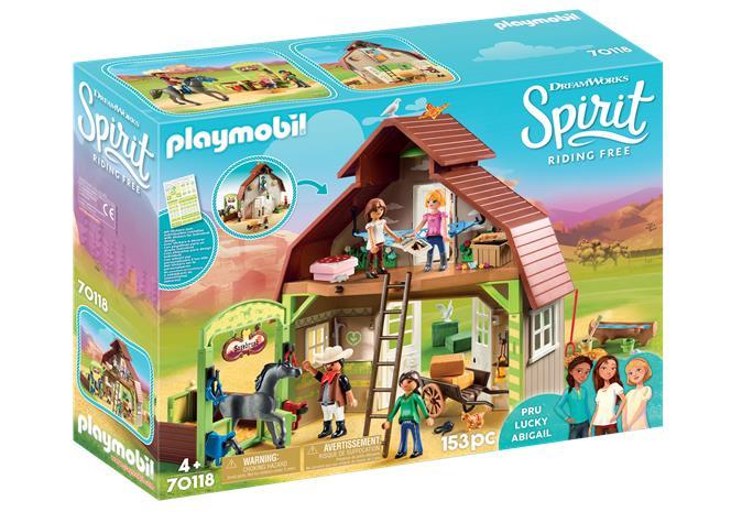 Playmobil Spirit 70118, Lucky, Pru ja Abigail ladossa (Barn with Lucky, Pru & Abigail)