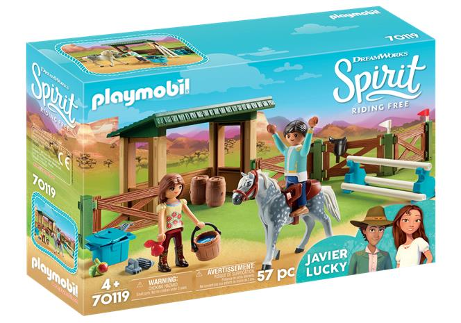 Playmobil Spirit 70119, Lucky ja Javier ratsailla (Riding Arena with Lucky & Javier)