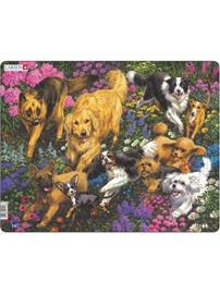 Larsen Puzzles Dogs in a field with flowers