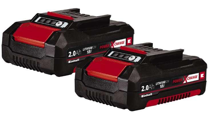 Einhell Power X-Change Twinpack 18V 2,0 Ah (4511488),työkaluakku 2 kpl