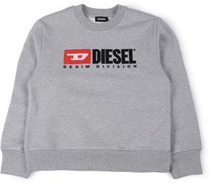 Diesel Screwdivision Huppari, Grigio Melange Nuovo 8 vuotta