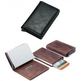 RFID-suojattu pop-up-korttilompakko - Musta, Nahka