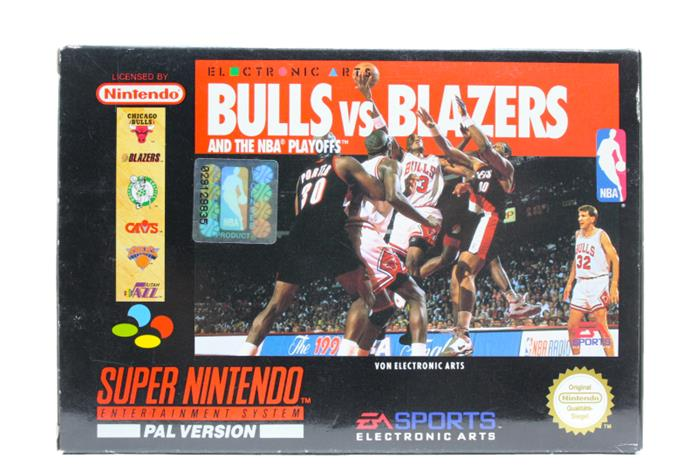 Bulls vs. Blazers and the NBA Playoffs, SNES -peli