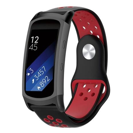 Samsung Gear Fit2 Pro bi-color soft silicone watch band stra