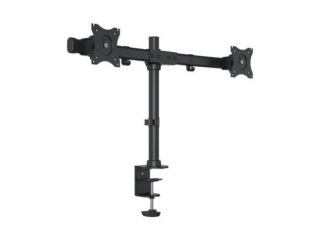 "Multibrackets M Deskmount Basic Dual, pöytäteline kahdelle 15-27"" näytölle, max 2 x 8 kg"