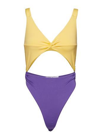 Ivyrevel Twist Front Swimsuit YELLOW/PURPLE