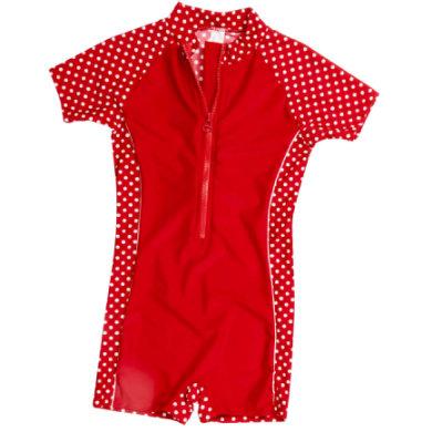 Playshoes UV-suojauima-asu, punapilkullinen - punainen - Gr.Taaperot (6 kk - 2 v.)