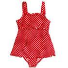 Playshoes UV-suojattu uimapuku, punapilkullinen - punainen - Gr.Lapset (2 - 6 v.)
