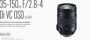 Tamron 35-150mm F/2.8-4 Di VC OSD (A043), objektiivi