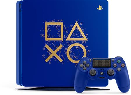 PlayStation 4 Days of Play Limited Edition (PS4, 1 TB), pelikonsoli + ohjain