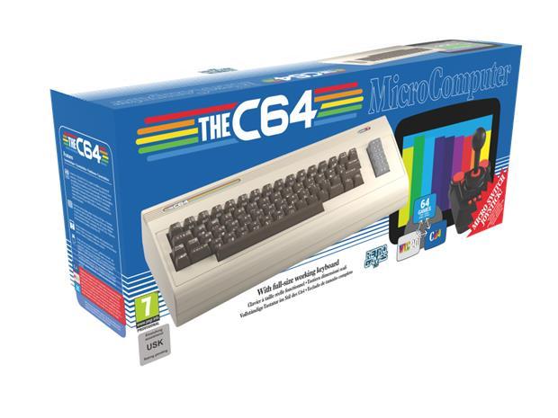 The C64 Micro Computer, retropelikonsoli + 64 peliä