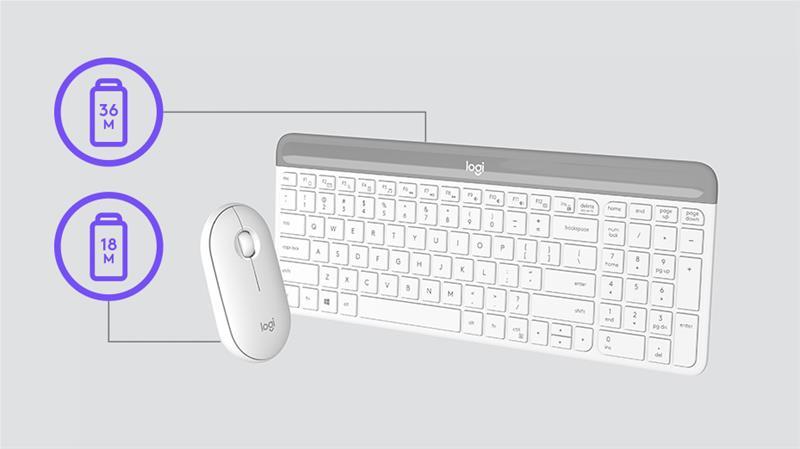 Logitech MK470 Slim Wireless, näppäimistö ja hiiri
