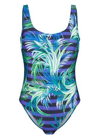 """Schwab Bademoden"""" """"Uimapuku auringonvaloa läpäisevää materiaalia sininen/vihreä"""