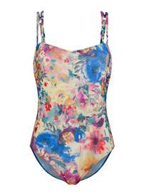 """Schwab Bademoden"""" """"Kukallinen uimapuku auringonvaloa läpäisevää materiaalia valkoinen/roosa/sininen"""