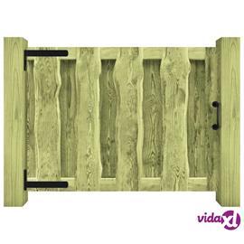 vidaXL Puutarhaportti FSC-sertifioitu kyllästetty mänty 100x75 cm