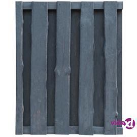 vidaXL Puutarhaportti 100x125 cm kyllästetty FSC-puu harmaa