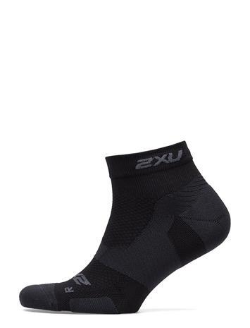 2XU Vectr Lightcush1/4crew Sock-U BLACK/TITANIUM