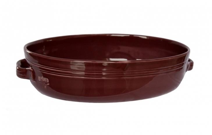 Gerbera Toscana Gratiinivuoka 38 x 26 cm Keramiikka Viininpunainen