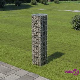 vidaXL Gabion-kivikori kansilla galvanoitu teräs 20x20x100 cm
