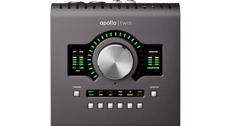 Universal Audio Apollo Twin Quad MKII, äänikortti Thunderbolt-väylään