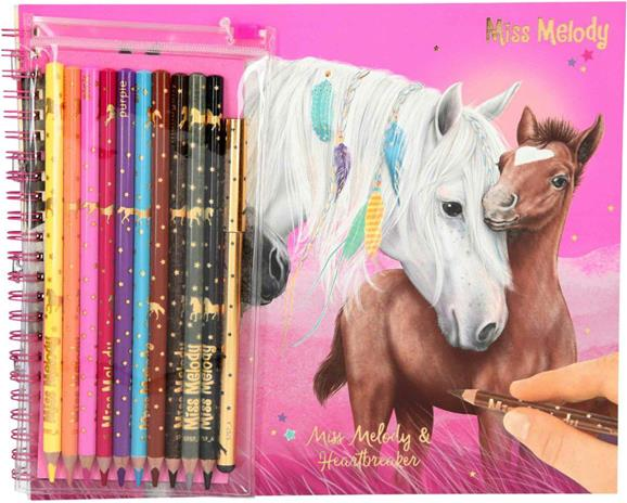 Miss Melody - Coloring Book w/crayons (045757)
