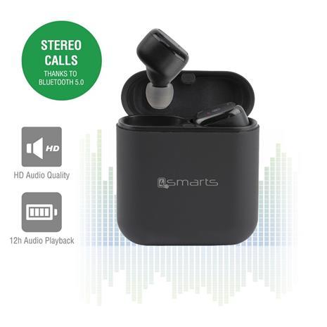 4smarts Eara Buttons TWS, Bluetooth-nappikuulokkeet mikrofonilla