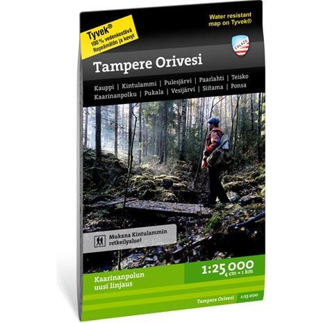 Tampere Orivesi retkeilykartta 1:25 000
