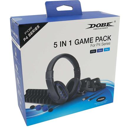 Dobe 5in1 Game Pack, PS4 -tarvikepaketti