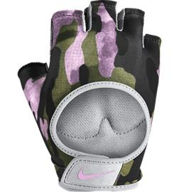 Nike W PRINTED GYM ULTIMATE FITNESS GLOVES CLUB GOLD/WOLF GRE