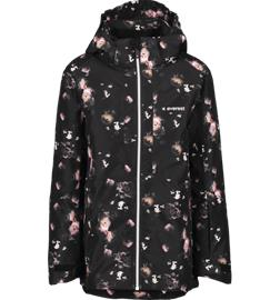 Everest J SLOPE SKI JKT BLACK FLOWER PRINT