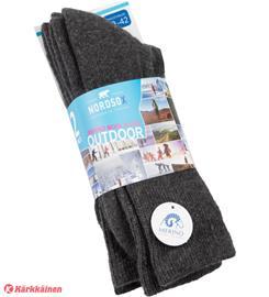 Nordsox Outdoor Merinovilla sukat 2 paria, Miesten hatut, huivit ja asusteet