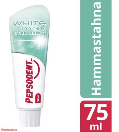 Pepsodent White System Pure Mineral 75 ml hammastahna