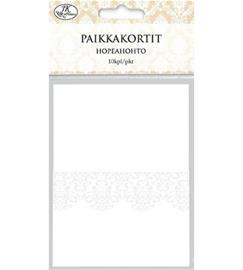 J.K. Primeco Valkoinen hopeahohto paikkakortti
