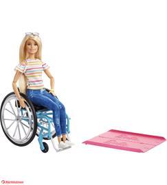 Barbie Fashionistas -pyörätuoli ja nukke