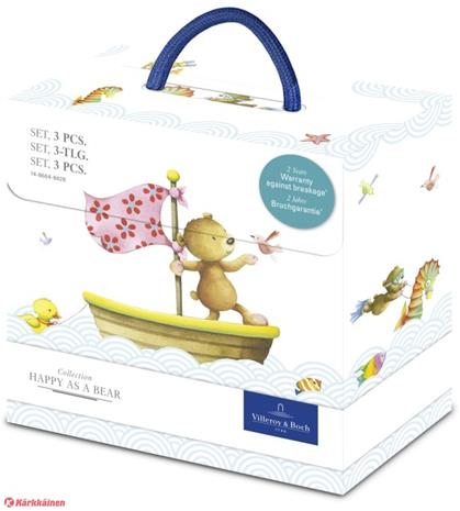 Villeroy & Boch Happy As A Bear 3-osainen lasten astiasto