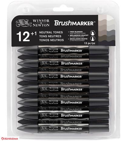 W&N Brushmarker neutral grey tones 12+1