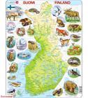 Larsen Suomen kartta ja eläimiä palapeli