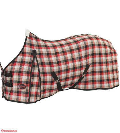 Horse Comfort puuvilla punaruutu vohveliloimi