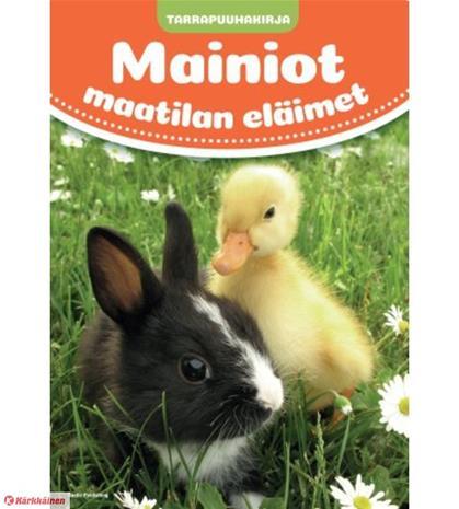 Mainiot maatilan eläimet tarrapuuhakirja